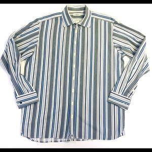 Burberry London Men's 17-43 Stripe Dress Shirt